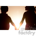 silhouette of friends sunset  jpg