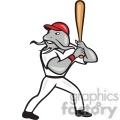 catfish baseball player batting mascot