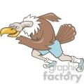 vulture runner running mascot