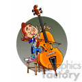 child viola musician cartoon