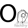ASL sign language O clipart illustration worksheet