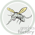 mosquito front view in circle shape  gif, png, jpg, eps, svg, pdf