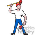 plumber standing wrench front shape