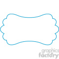 blue lines frame swirls boutique design border 10
