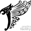 vinyl ready vector wing tattoo design 090