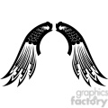 vinyl ready vector wing tattoo design 057