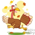 6887_Royalty_Free_Clip_Art_Turkey_Escape_Cartoon_Mascot_Character