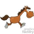 6866_Royalty_Free_Clip_Art_Smiling_Horse_Cartoon_Character_Running