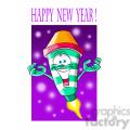 happy new year fireworks cartoon