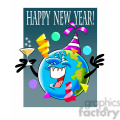 happy new year earth cartoon