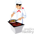 cartoon chef cooking