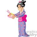asian wife serving noodles  gif, png, jpg, eps, svg, pdf