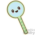 Magnifying glass vector clip art image