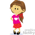 valentine shy girl cartoon  gif, png, jpg, eps, svg, pdf