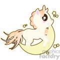cartoon Unicorn Moon illustration clip art image