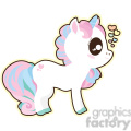 cartoon Unicorn 0 illustration clip art image