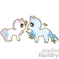 cartoon Unicorn Boy and Girl illustration clip art image