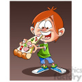 image of kid eating huge piece of pizza nino comiendo pizza