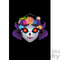 day of the dead 9 cartoon character illustration  gif, png, jpg, eps, svg, pdf