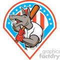 donkey baseball player batting front dia  gif, png, jpg, eps, svg, pdf