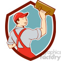 plasterer trowel rear view shield  gif, png, jpg, eps, svg, pdf