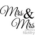 mrs and mrs vector word art