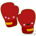 Boxing gloves cartoon character vector image