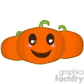 Halloween Pumpkin cartoon character vector image