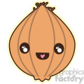 Onion cartoon character vector clip art image