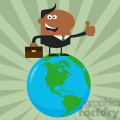 8368 Royalty Free RF Clipart Illustration The Best African American Manager On The World Flat Style Vector Illustration
