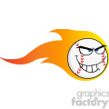 flaming angry baseball ball cartoon character  gif, png, jpg, eps, svg, pdf