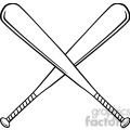 black and white crossed baseball bats  gif, png, jpg, eps, svg, pdf
