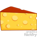Royalty Free RF Clipart Illustration Cartoon Wedge Of Cheese