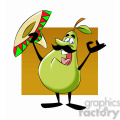 paul the cartoon pear character singing mexican music  gif, png, jpg, eps, svg, pdf