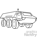 military armored security vehicle outline