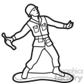 black white toy gernader soldier illustration graphic