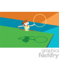 olympic gymnastics rings game character illustration