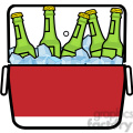 cooler full of ice cold beer icon