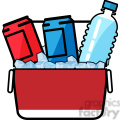 ice cold drinks in a cooler icon  gif, png, jpg, eps, svg, pdf