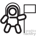 astronaut space walker vector icon  gif, png, jpg, eps, svg, pdf