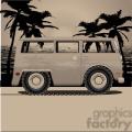 volkswagen bus van dusk on beach  gif, png, jpg, svg, pdf