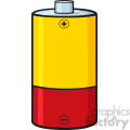 royalty free rf clipart illustration yellow and red battery cartoon vector illustration isolated on white gif, png, jpg, eps, svg, pdf