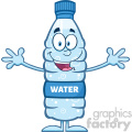 royalty free rf clipart illustration smiling water plastic bottle cartoon mascot character wanting a hug vector illustration isolated on white