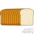 illustration cartoon bread loaf vector illustration isolated on white background