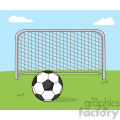 soccer ball with football gate vector illustration with background  gif, png, jpg, eps, svg, pdf