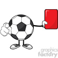 soccer ball faceless cartoon mascot character referees pointing and showing red card vector illustration isolated on white background gif, png, jpg, eps, svg, pdf