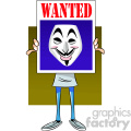 vector clipart image of anonymous person holding a sign