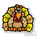 thanksgiving turkey sticker with fall colors  gif, png, jpg, eps, svg, pdf