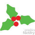 holly berries icon vector art