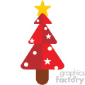 red christmas tree vector flat design